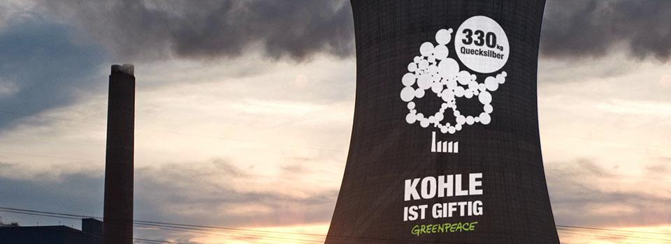 """Greenpeace """"Kohle ist giftig"""""""